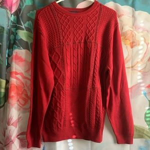 Super cute red sweater!